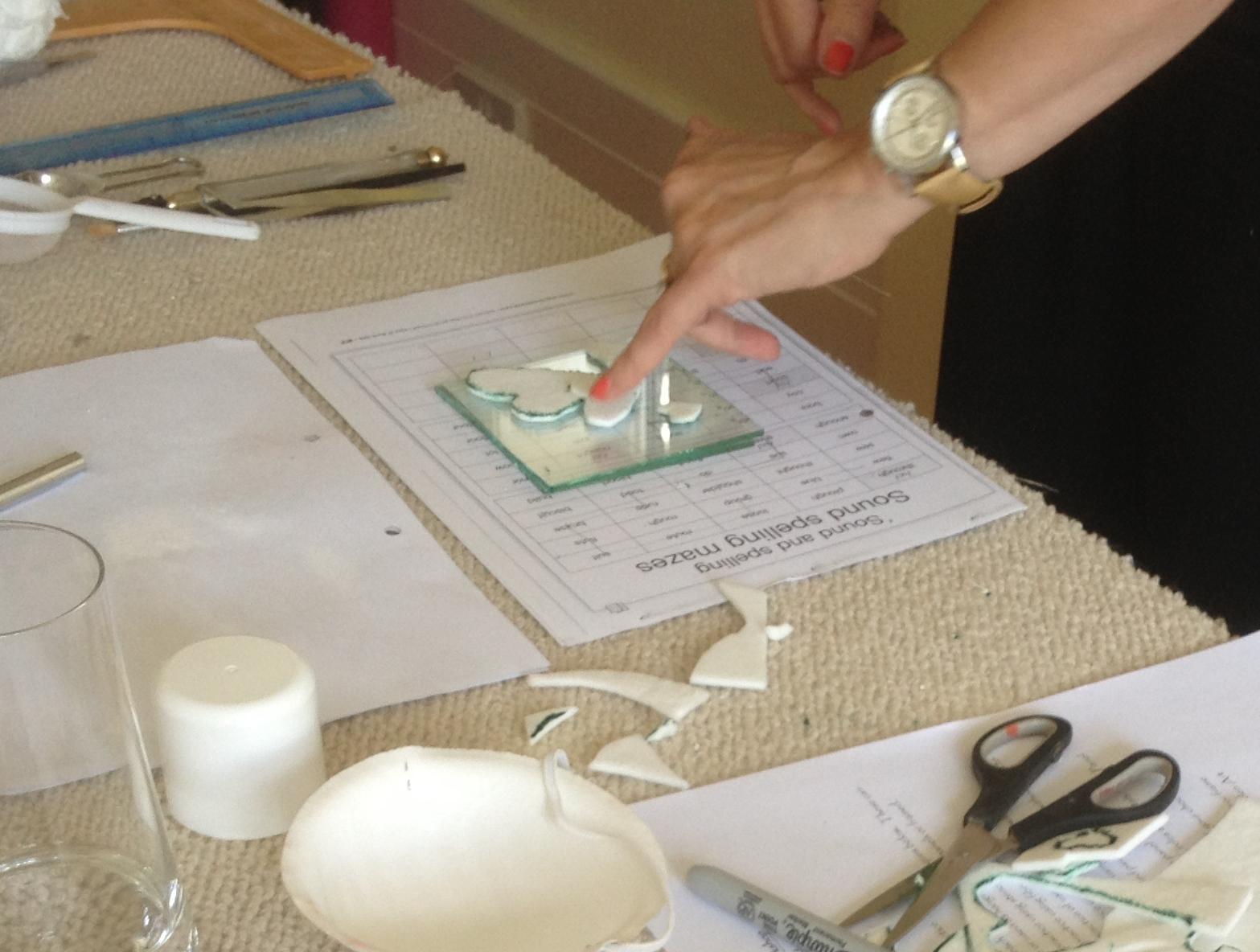 Fibre paper for texture