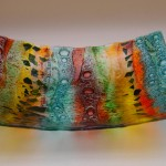 Fused Glass  Square 'Woodland' bowl 300x300mm