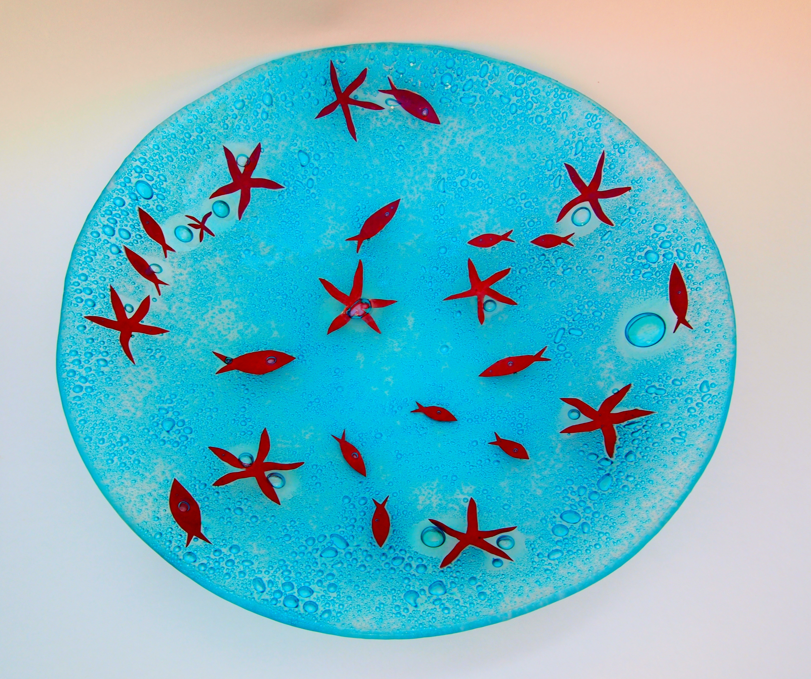 Fused Glass 'Coastal' Charger