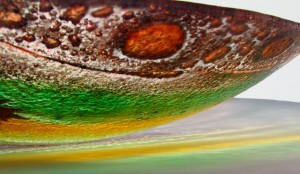 Fused Glass 'Woodland' Bowl 40cm