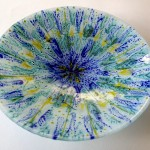 Fused Glass 'Spring' Bowl 400mm
