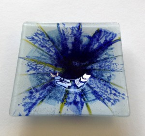 Fused Glass 'Spring' Dish 120x120mm
