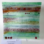 'Woodland' Fused Glass Platter 410x410mm by Janice Bradshaw